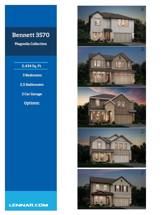 New Home know it all Bennett-Elevations-1 Magnolia Collection Floor Plans