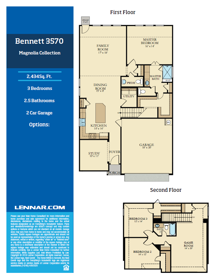 New Home know it all Bennett-Floor-plan-1 Magnolia Collection Floor Plans