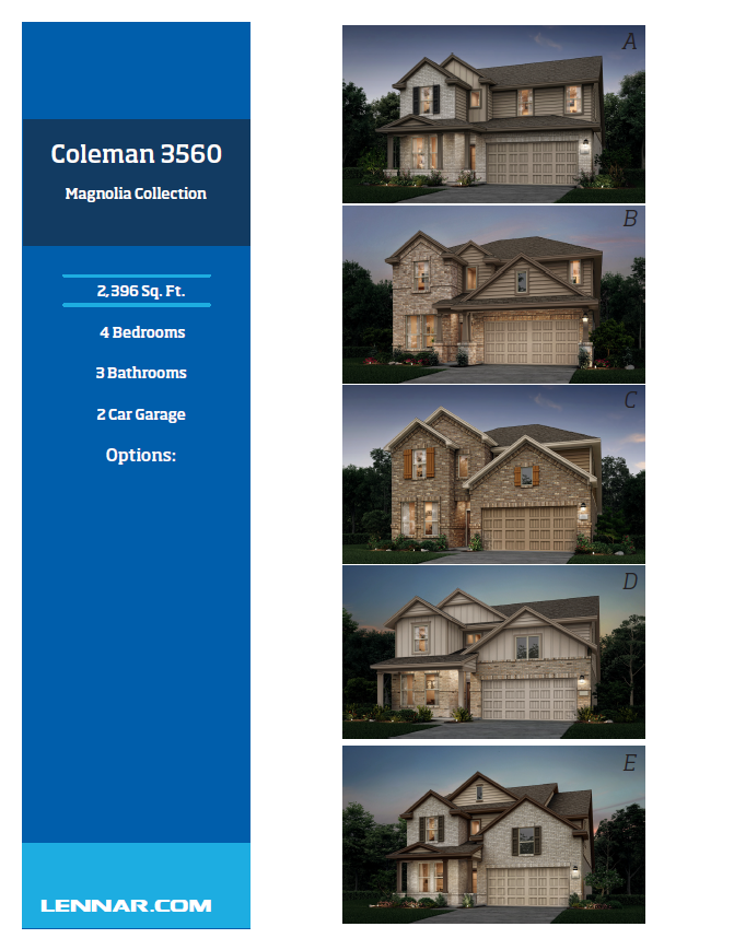 New Home know it all Coleman-Elevations-1 Magnolia Collection Floor Plans