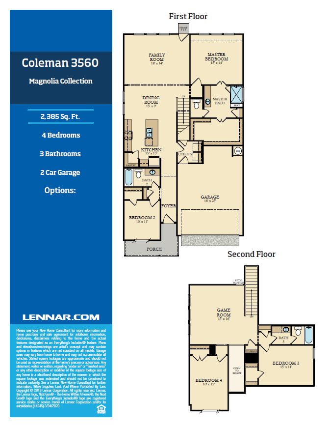 New Home know it all Coleman-Floor-plan-1 Magnolia Collection Floor Plans
