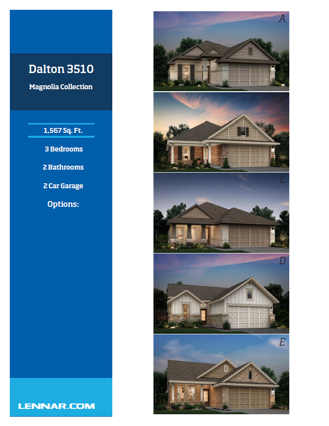 New Home know it all Dalton-Elevations-1 Magnolia Collection Floor Plans