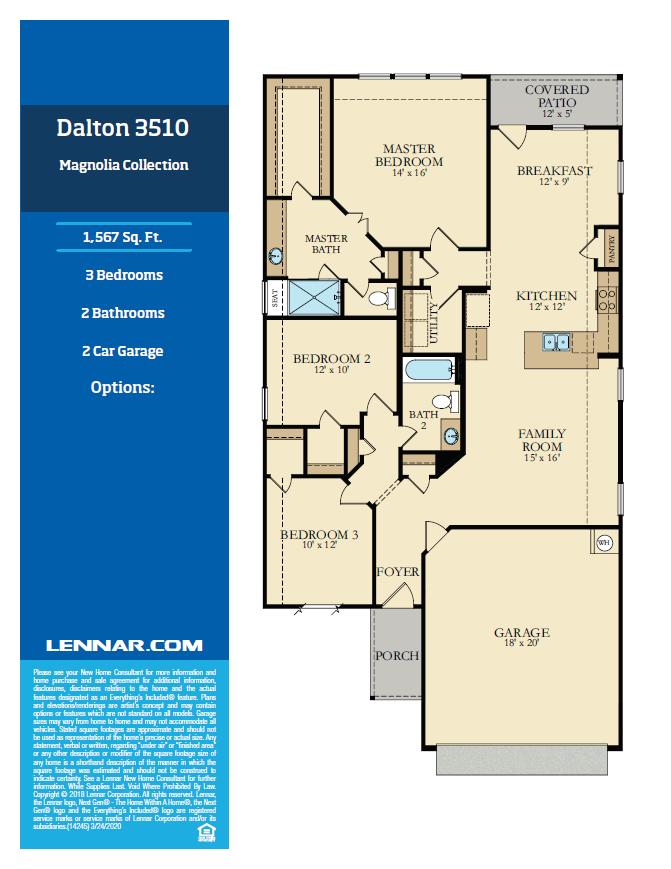 New Home know it all Dalton-Floor-Plan-1 Magnolia Collection Floor Plans