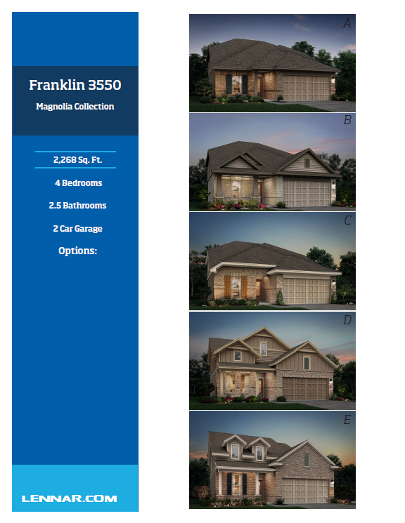 New Home know it all Franklin-Elevations-1 Magnolia Collection Floor Plans