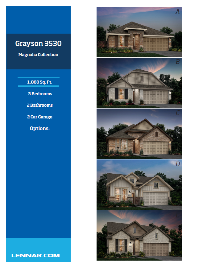 New Home know it all Grayson-Elevations-1 Magnolia Collection Floor Plans