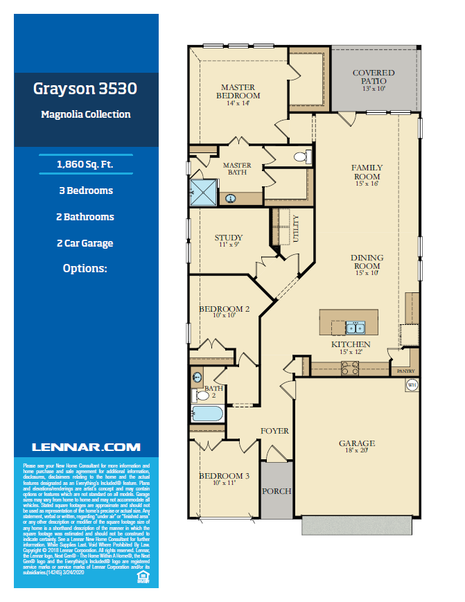 New Home know it all Grayson-Floor-plan-1 Magnolia Collection Floor Plans
