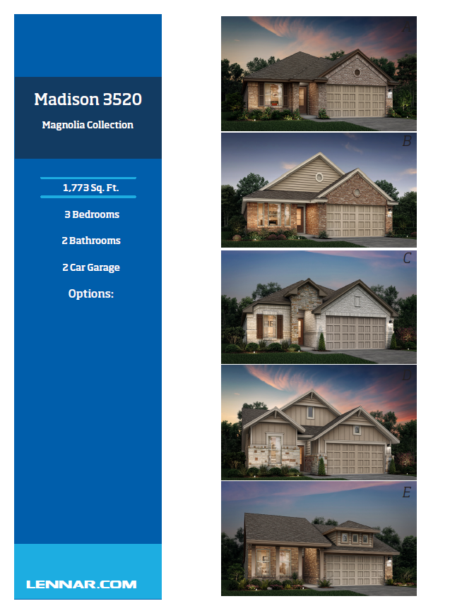 New Home know it all Madison-Elevations-1 Magnolia Collection Floor Plans